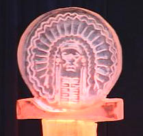 Ice sculpture of Chief Illiniwek