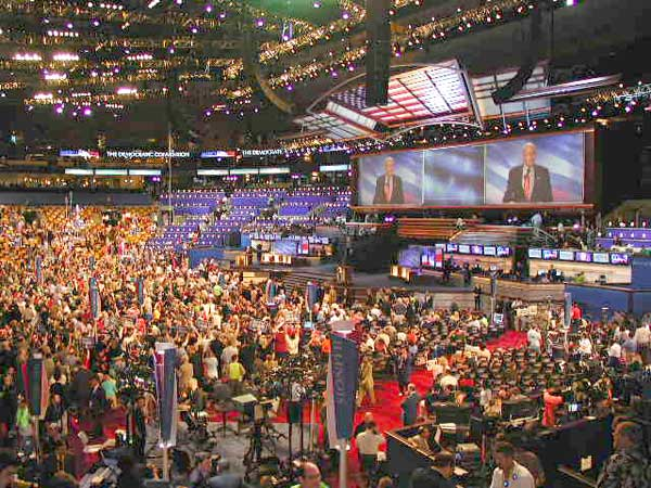 Floor of Democratic National Convention
