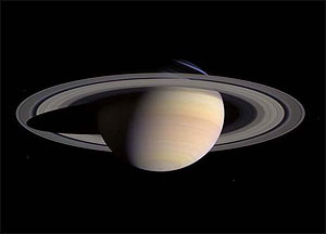 Saturn image from Cassini probe